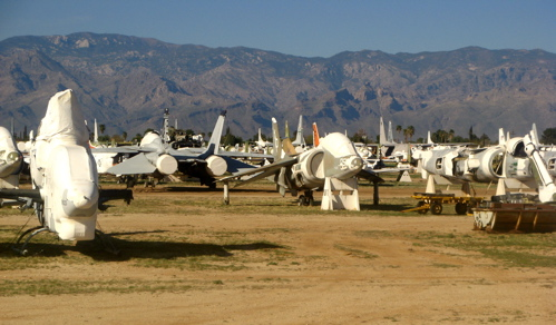boneyard airplanes used for scrap