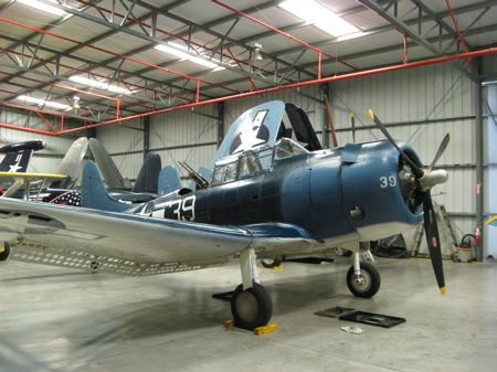SBD Dauntless Torpedo Plane Planes of Fame Museum in Chino
