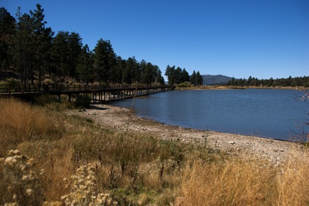"Westward View from Baker Lake at Big Bear — the ""Marsh"""
