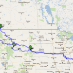 A Map of a Canadian Rockies Road Trip