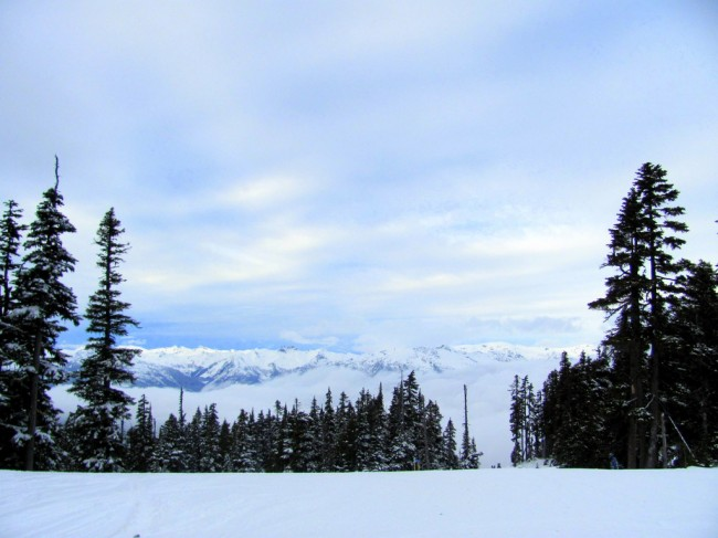 Somewhere at Whistler, a horizon.