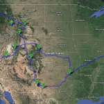 Map for My Post-Dissertation Road Trip