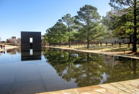 The reflecting pool. Chairs (with Christmas wreaths) are over on the side there.